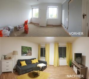 Vorher Nachher Vergleich einer Wohnung